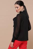 белая блузка с бантом. блуза Эллада д/р. Цвет: черный в интернет-магазине