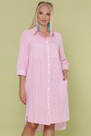 платье-рубашка больших размеров. платье Валентия-Б 3/4. Цвет: розовая м. полоска купить