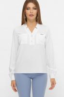 бордовая блузка с длинным рукавом. блуза Жанна д/р. Цвет: белый купить