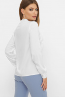 бордовая блузка с длинным рукавом. блуза Жанна д/р. Цвет: белый цена