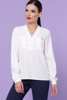 бордовая блузка с длинным рукавом. блуза Жанна д/р. Цвет: белый в интернет-магазине