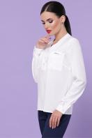 бордовая блузка с длинным рукавом. блуза Жанна д/р. Цвет: белый в Украине