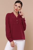 бордовая блузка с длинным рукавом. блуза Жанна д/р. Цвет: бордо купить