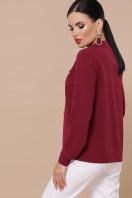 бордовая блузка с длинным рукавом. блуза Жанна д/р. Цвет: бордо цена