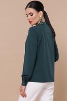 бордовая блузка с длинным рукавом. блуза Жанна д/р. Цвет: изумруд цена