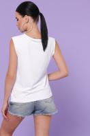 летняя футболка без рукавов. Панда футболка Киви б/р. Цвет: белый купить