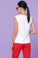 модная футболка без рукавов. Red dress футболка Киви б/р. Цвет: белый купить