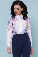белая блузка с цветочным принтом. Гортензия блуза Зоя д/р. Цвет: белый купить