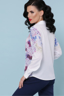 белая блузка с цветочным принтом. Гортензия блуза Зоя д/р. Цвет: белый цена