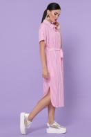 полосатое платье рубашка. платье-рубашка Дарья-2 к/р. Цвет: розовая полоска цена