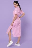полосатое платье рубашка. платье-рубашка Дарья-2 к/р. Цвет: розовая полоска в интернет-магазине