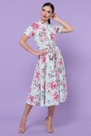 . платье Изольда к/р. Цвет: мята-крупный цветок купить