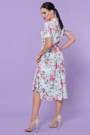 . платье Изольда к/р. Цвет: мята-крупный цветок в интернет-магазине