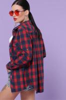 хлопковая рубашка в клетку. блуза Пальмира д/р. Цвет: клетка красн-зелен-синий в Украине