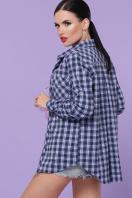 хлопковая рубашка в клетку. блуза Пальмира д/р. Цвет: клетка синий-голуб-красн в Украине