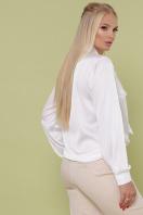 шелковая блузка больших размеров. блуза Роксана-Б д/р. Цвет: белый цена