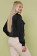 шелковая блузка больших размеров. блуза Роксана-Б д/р. Цвет: черный цена