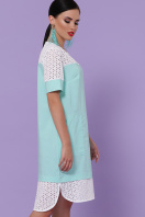 мятное платье с коротким рукавом. платье Сати-3 к/р. Цвет: мята купить