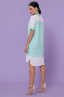 мятное платье с коротким рукавом. платье Сати-3 к/р. Цвет: мята цена