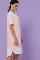 персиковое платье на лето. платье Сати-3 к/р. Цвет: персик купить