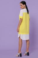 персиковое платье на лето. платье Сати-3 к/р. Цвет: желтый цена