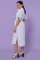 полосатое платье на пуговицах. платье-рубашка Дарья-3 к/р. Цвет: голубая м.полоска цена