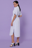 летнее платье-рубашка. платье-рубашка Дарья-3 к/р. Цвет: голубая м.полоска цена