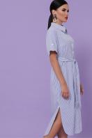 летнее платье-рубашка. платье-рубашка Дарья-3 к/р. Цвет: синяя м. полоска купить