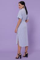 летнее платье-рубашка. платье-рубашка Дарья-3 к/р. Цвет: синяя м. полоска цена