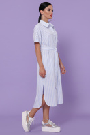 полосатое платье на пуговицах. платье-рубашка Дарья-3 к/р. Цвет: голубая полоска купить