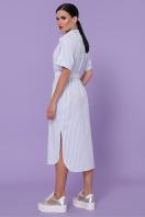 полосатое платье на пуговицах. платье-рубашка Дарья-3 к/р. Цвет: голубая полоска цена