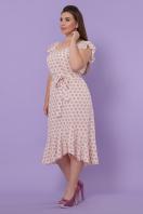 мятный сарафан больших размеров. сарафан Шания-Б. Цвет: персик цветок горох купить