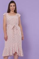 мятный сарафан больших размеров. сарафан Шания-Б. Цвет: персик цветок горох цена