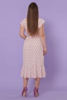 персиковый сарафан батал. сарафан Шания-Б. Цвет: персик цветок горох в интернет-магазине