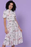 . платье Изольда к/р. Цвет: серый-цветы,цепи в интернет-магазине