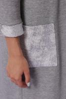 серый трикотажный кардиган. кардиган Стелла-2 д/р. Цвет: серый-серебро в Украине