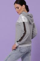 женская кофта с капюшоном. кофта Банни д/р. Цвет: серый-серебро в интернет-магазине