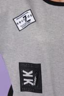 модная кофта с надписями. кофта Рия д/р. Цвет: черный-серый цена