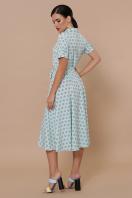 . платье Изольда к/р. Цвет: мята цветок горох в интернет-магазине