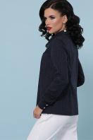 женская рубашка в горошек. блуза Вендис д/р. Цвет: синий-бел.м.горох-белый цена