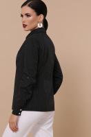 синяя офисная рубашка. блуза Вендис д/р. Цвет: черный-бел.м.горох-белый цена