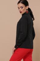 женская рубашка в горошек. блуза Вендис д/р. Цвет: черный-бел.м.горох-красн купить
