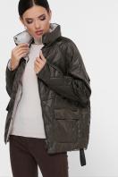 демисезонная черная куртка. Куртка 991. Цвет: серо-зелёный купить