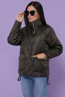демисезонная черная куртка. Куртка 991. Цвет: серо-зелёный в интернет-магазине