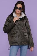 демисезонная черная куртка. Куртка 991. Цвет: серо-зелёный в Украине