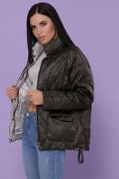 демисезонная черная куртка. Куртка 991. Цвет: серо-зелёный недорого