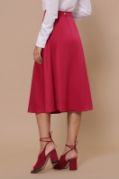 черная атласная юбка. юбка мод. №38. Цвет: фуксия купить