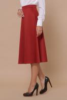 черная атласная юбка. юбка мод. №38. Цвет: терракот купить