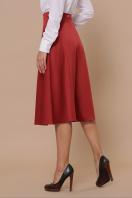 черная атласная юбка. юбка мод. №38. Цвет: терракот цена