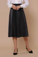 черная атласная юбка. юбка мод. №38. Цвет: черный купить